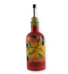Hand painted Spanish Olive Oil Pourer (Olivia Tri Color)