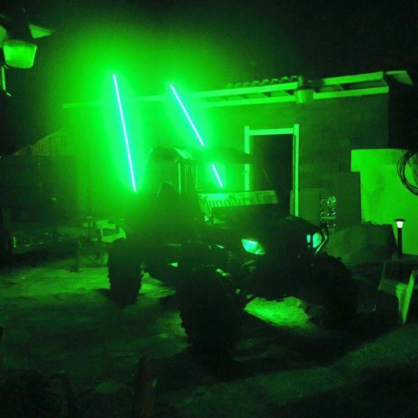 Green led light whip millar light bars fx whips llc pair green led light whip aloadofball Choice Image