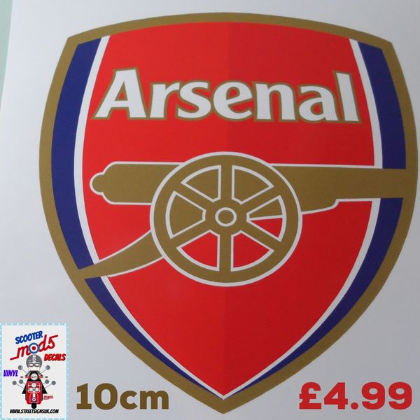 Arsenal fc die cut printed and cut full colour sticker decal wall art