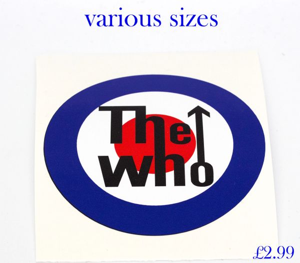 The who target print and cut self adhesive vinyl decal sticker wall art