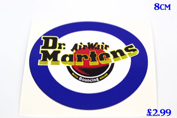 Dr martens target print and cut self adhesive vinyl decal sticker various sizes
