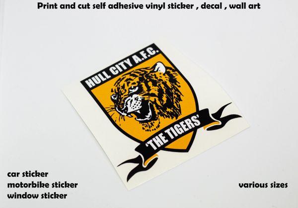 HULL CITY A.F.C print and cut self adhesive vinyl sticker decal ...