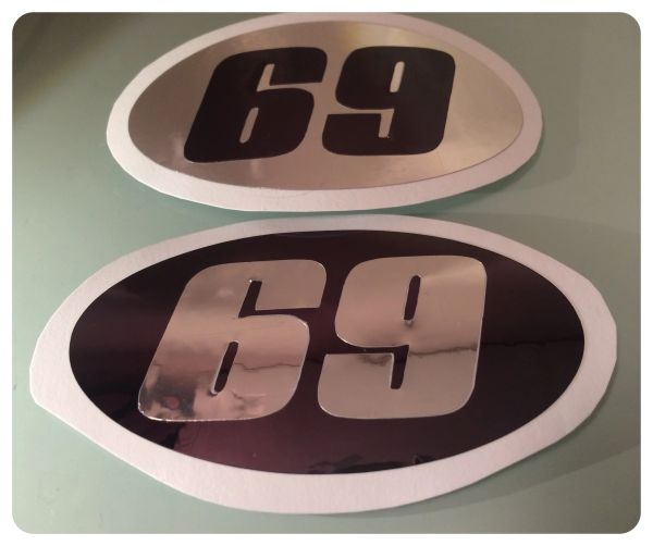 Scooter Or Motorbike Number Decals Scooter Graphics Customise Your Own Decal