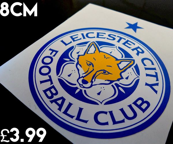 Leicester city f c car sticker scooter sticker wall art