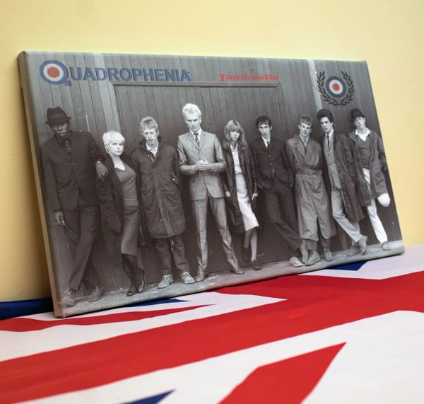 Quadrophenia framed stretched canvas picture ready to hang
