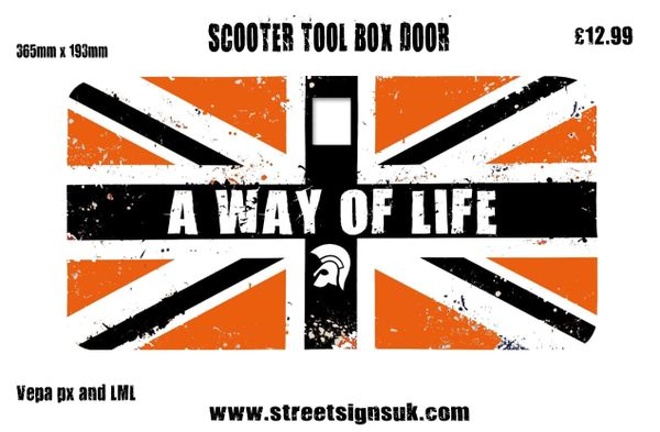 A WAY OF LIFE TROJAN self adhesive print and cut self adhesive vinyl decal sticker