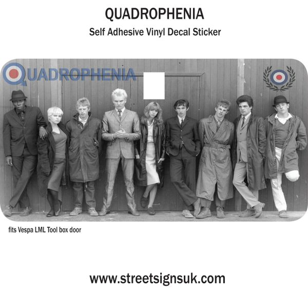 Quadrophenia self adhesive print and cut self adhesive vinyl decal sticker