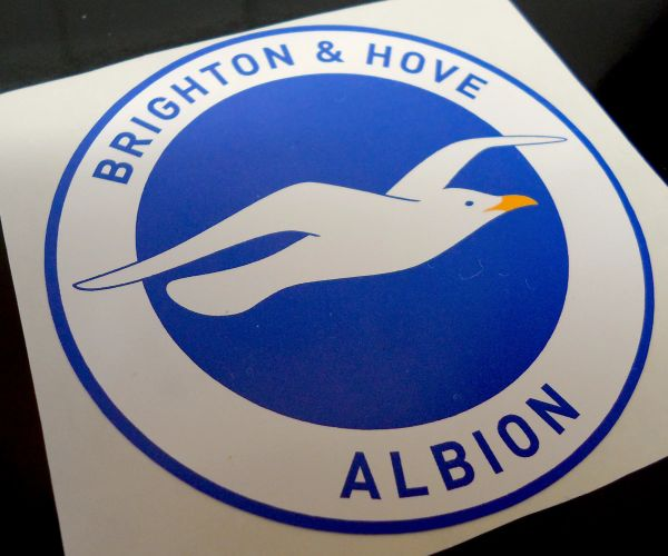 Brighton and Hove Albion F.C print and cut self adhesive vinyl decal sticker wall art