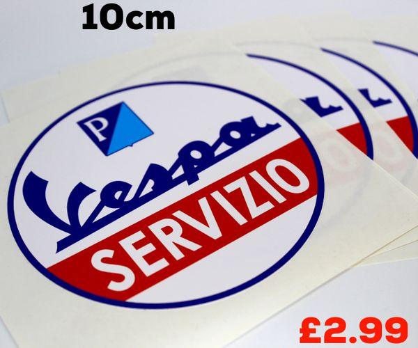 Vespa SERVIZIO print and cut self adhesive vinyl decal , sticker , wall art