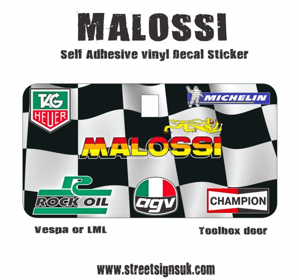 MALOSSI self adhesive vinyl decal sticker