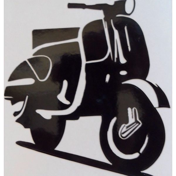 self adhesive vinyl,vespa decal,vinyl wall art,vespa scooter art ...