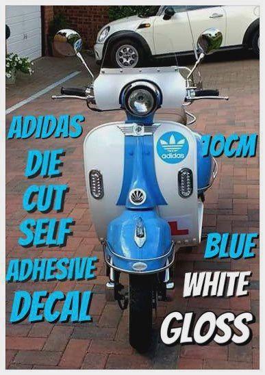 adidas self adhesive die cut 2 colour vinyl decal , sticker , wall art