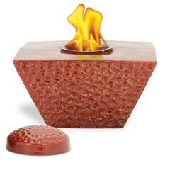 """8"""" Ruby Taper FlamePot with Lid"""