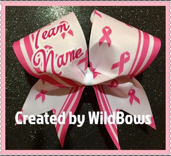 Breast Caner Awareness Bow (Striped)