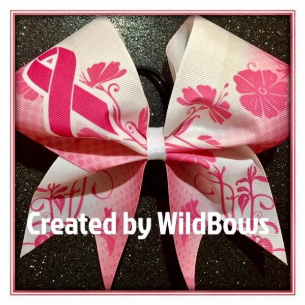 Breast Cancer Awareness Bow (Floral)