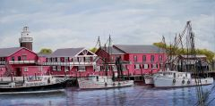Rb's and the light house, 16x32 inches gicle'e high rez canvas print , signed and dated by artist.