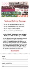 Wellness Motivator Package