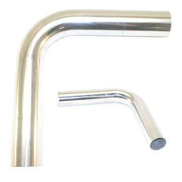 """2' Mandrel Bent Aluminum 90° Bend, 2.25"""""""