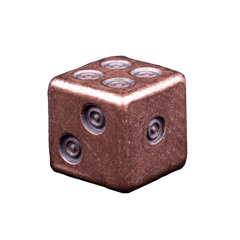 Solid Copper Dice - Viking Design