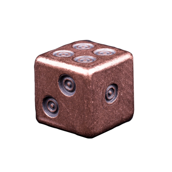 Solid Copper Dice - Viking Design