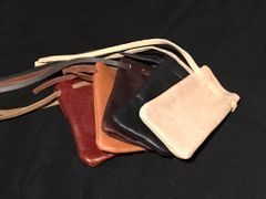 Leather Dice Bag - Mixed Colors