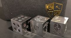 Invincible Tool Steel Dice - Dragon Design