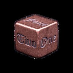 Solid Copper Dice - Spelled Numbered Design