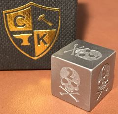 Invincible Tool Steel Dice - Skull Design