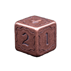 Solid Copper Dice - Numbered Design