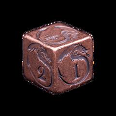Solid Copper Dice - Dragon Design