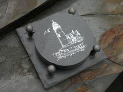 Slate Coaster Gift Set -- LIGHTHOUSE