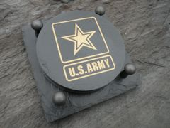 MILITARY SLATE COASTER ---ARMY