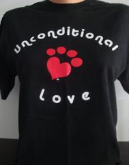 Unconditional Love Heart Paw Tee Shirt