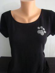 Heart Paw Silky Jersey Shirt Black