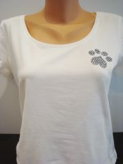 Heart Paw Silky Jersey Shirt White