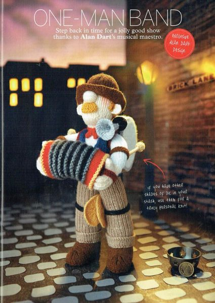 Alan Dart One Man Band Toy Knitting Pattern Knits And Pieces