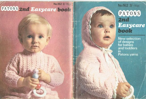 Patons 162 Baby Book Vintage Knitting Pattern Magazine Booklet