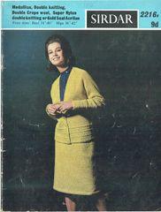 f353caccf7d Sirdar 2216 ladies cardigan skirt suit vintage knitting pattern