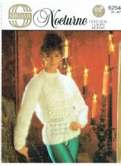 b007e149ca4 Sirdar 6254 ladies mohair jumper vintage knitting pattern