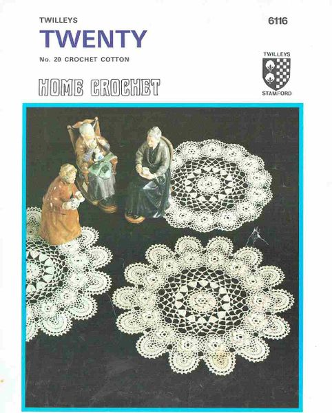 Twilleys 6116 Roses Doily Table Mat Vintage Crochet Pattern Knits