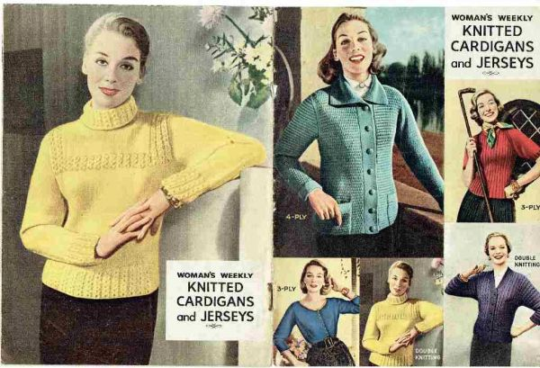 Womans Weekly Knitted Cardigans And Jerkins Vintage Knitting Patt