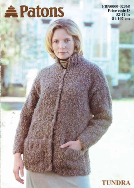 Patons 2568 Ladies Chunky Cardigan Knitting Pattern Knits And Pieces