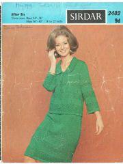 6a046155153 Sirdar 2402 ladies cardigan skirt suit vintage knitting pattern
