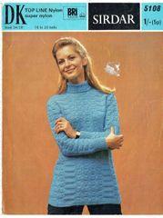 9e67139790b Sirdar 5108 ladies jumper vintage knitting pattern