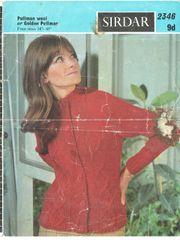 ebb6a93a0b2 Sirdar 2346 ladies aran cardigan vintage knitting pattern