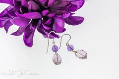 Amethyst and Ametrine Earrings