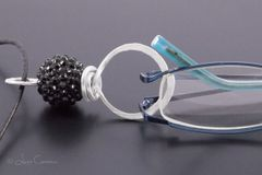 Black Bead Eyeglasses Pendant