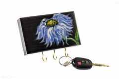 Blue Daisy Wall Key Holder