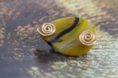 Yellow Agate Brooch