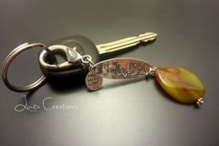 Fire Agate Keychain